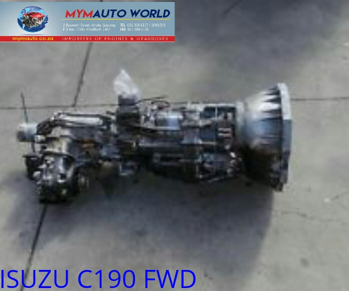 imported used ISUZU C190 4WD FLR gearboxes. Complete second hand used gearbox
