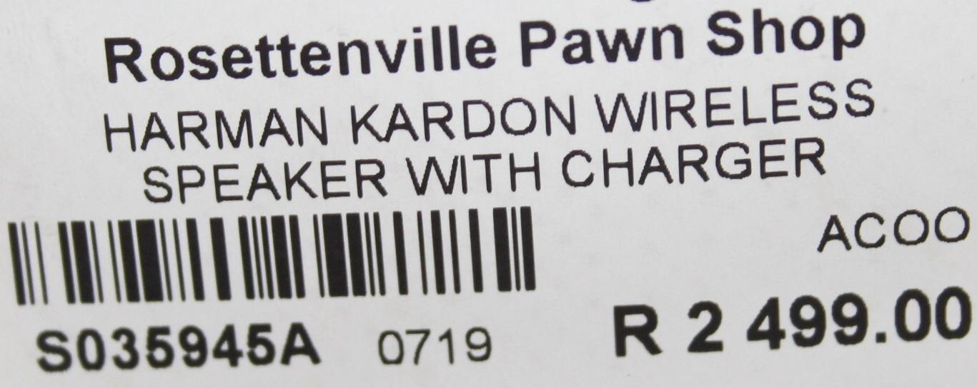 S035945A Harman kardon wireless speaker with charger #Rosettenvillepawnshop