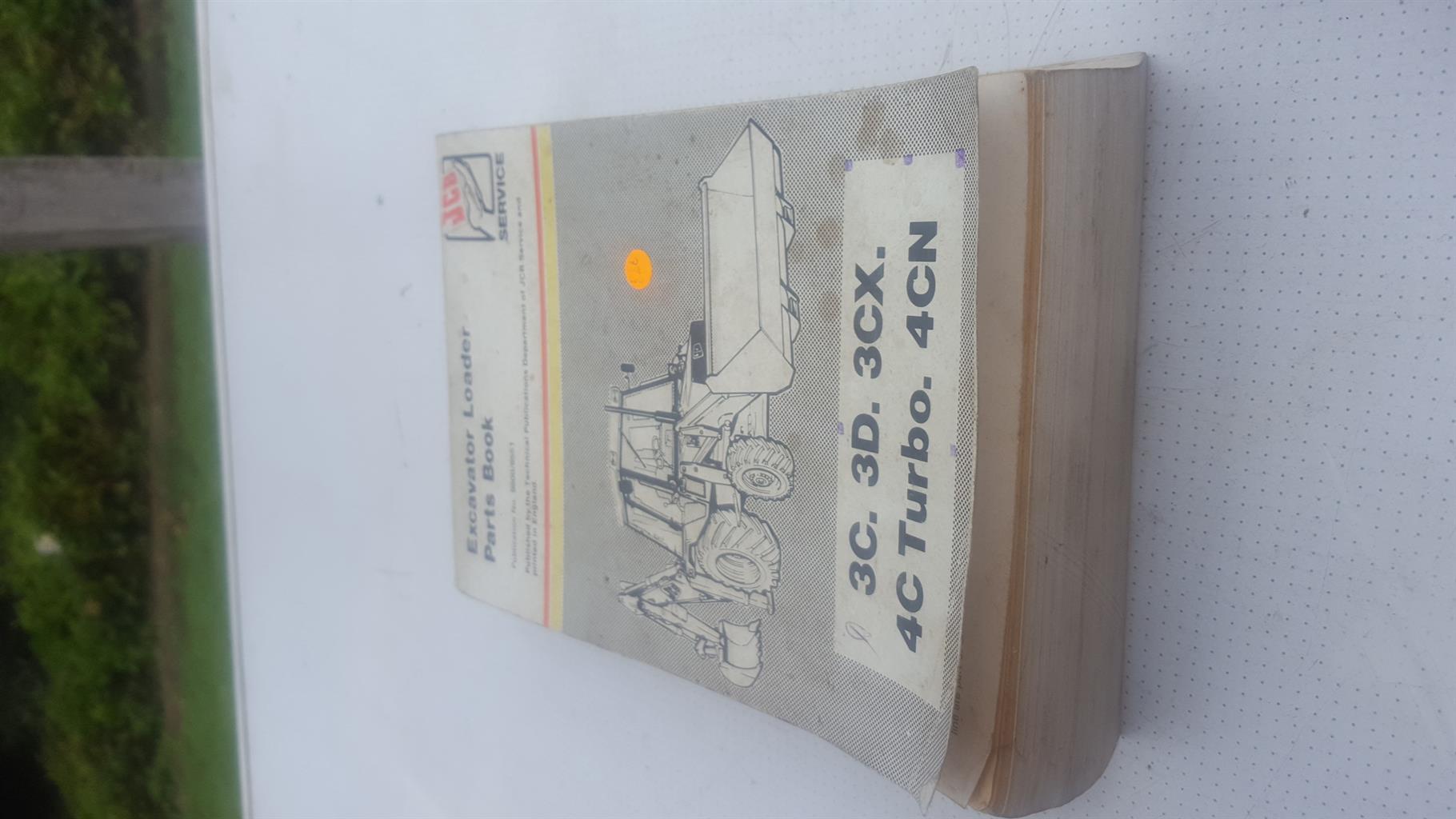 Excavator loader parts book