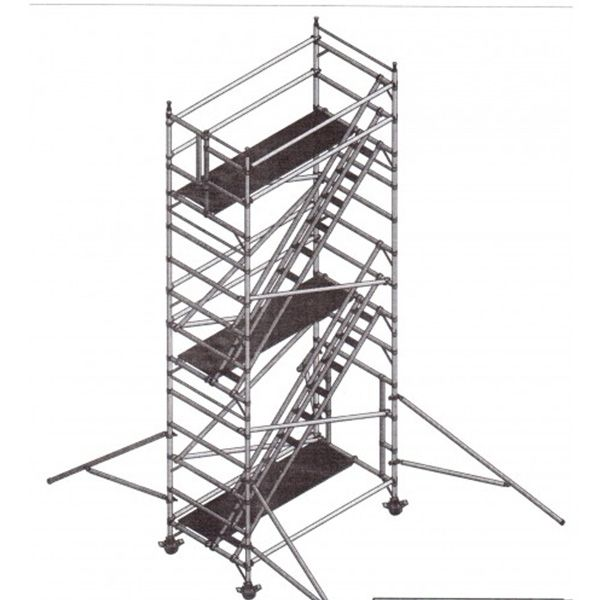 KWICK ACCESS RENTALS - ALUMINIUM SCAFFOLDING - 10.5m STAIRCASE TOWER FOR HIRE