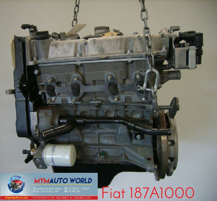 Complete Second hand used engines,  FIAT PALIO 1.1L, FIAT 187A1000