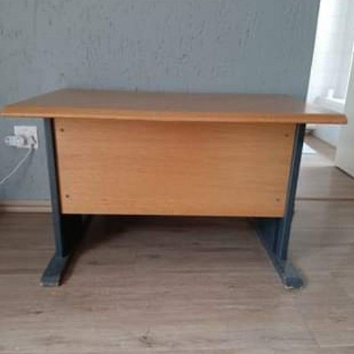 Strong steel and wooden desk