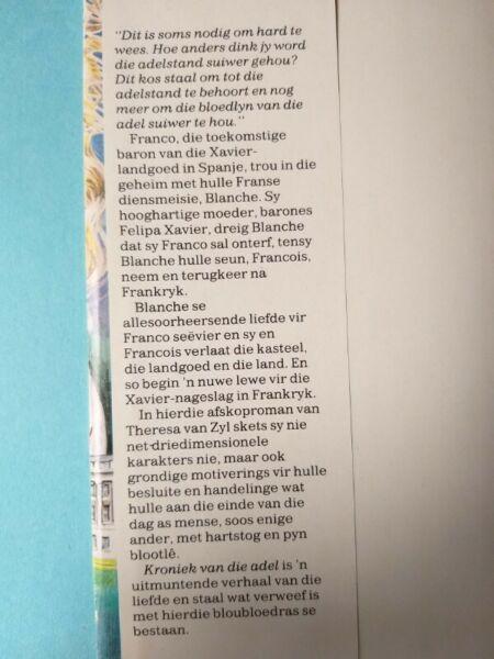 Kroniek Van Die Adel - Theresa Van Zyl.