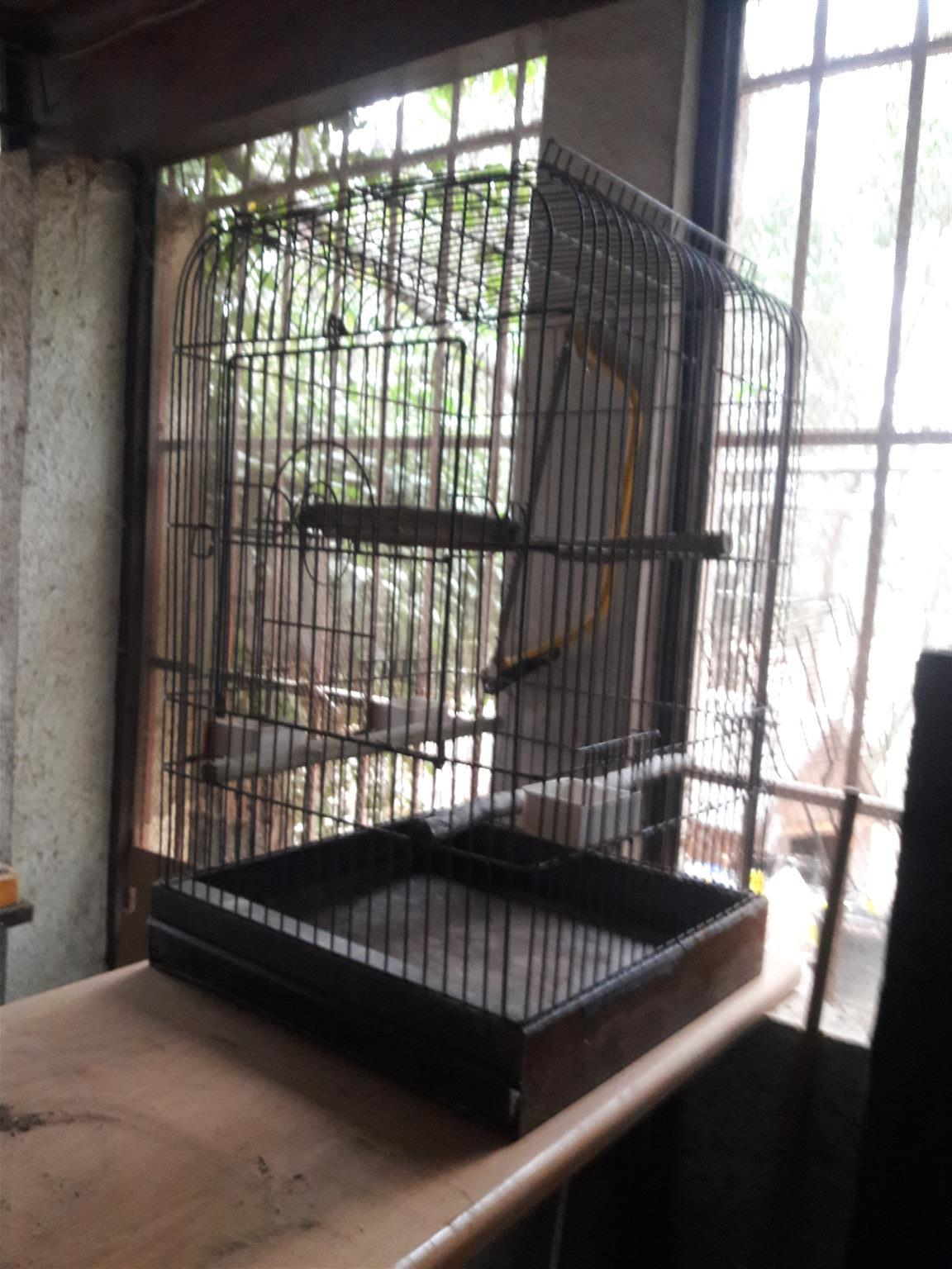 Large 2nd hand parrot cage for sale..