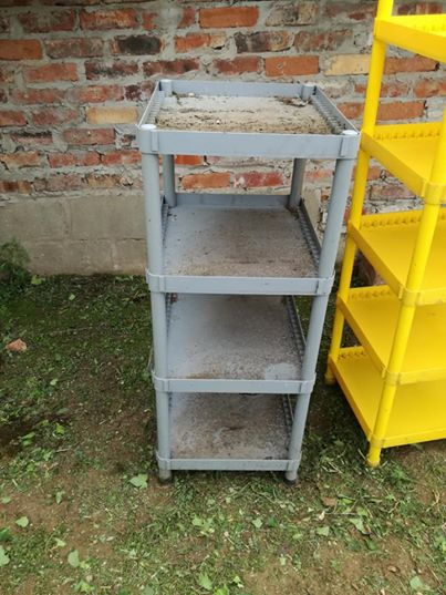Plastic shelves. Stands. R100 each