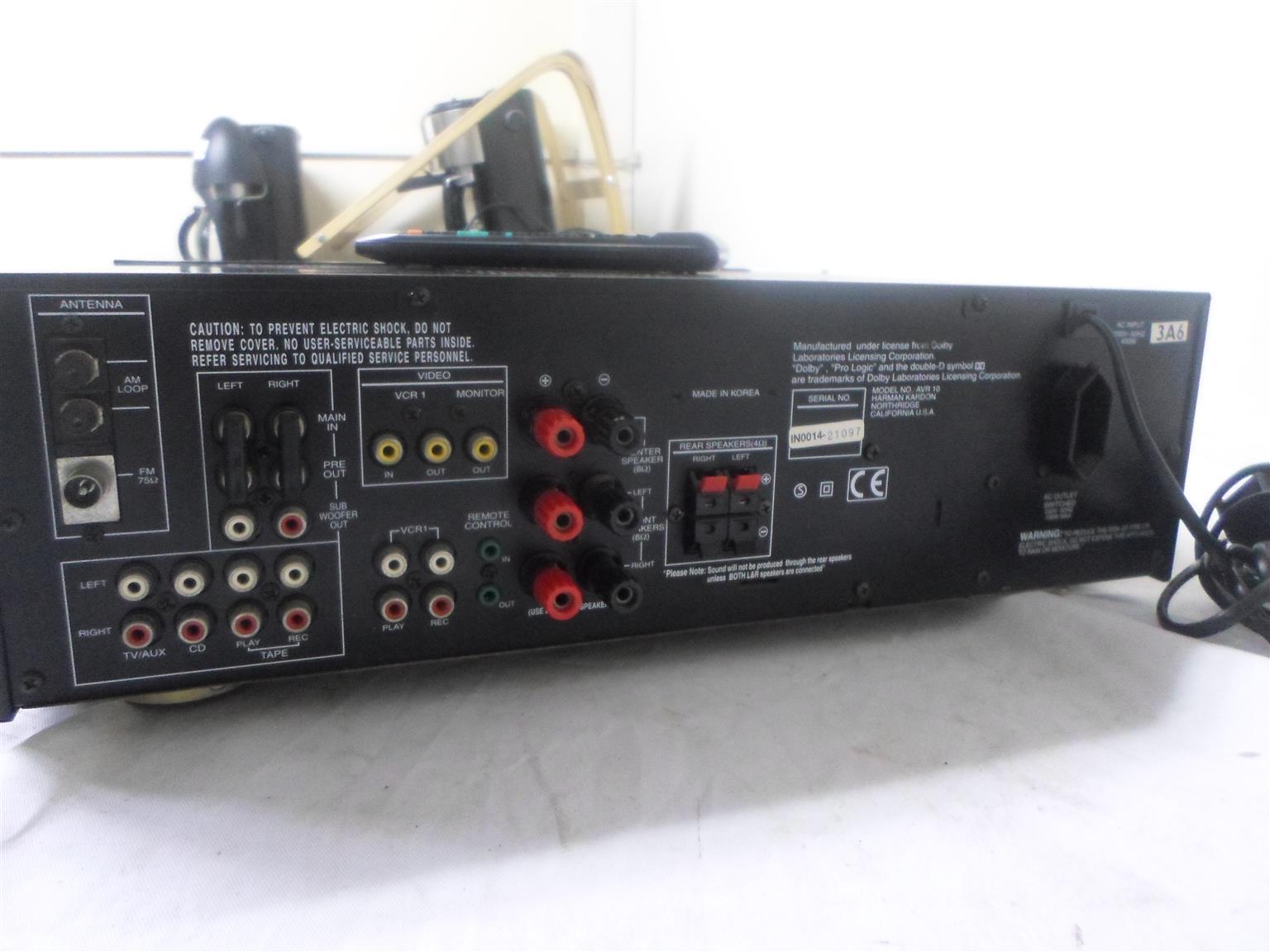 Amplifier Harman Kardon AVR 10 2Ch