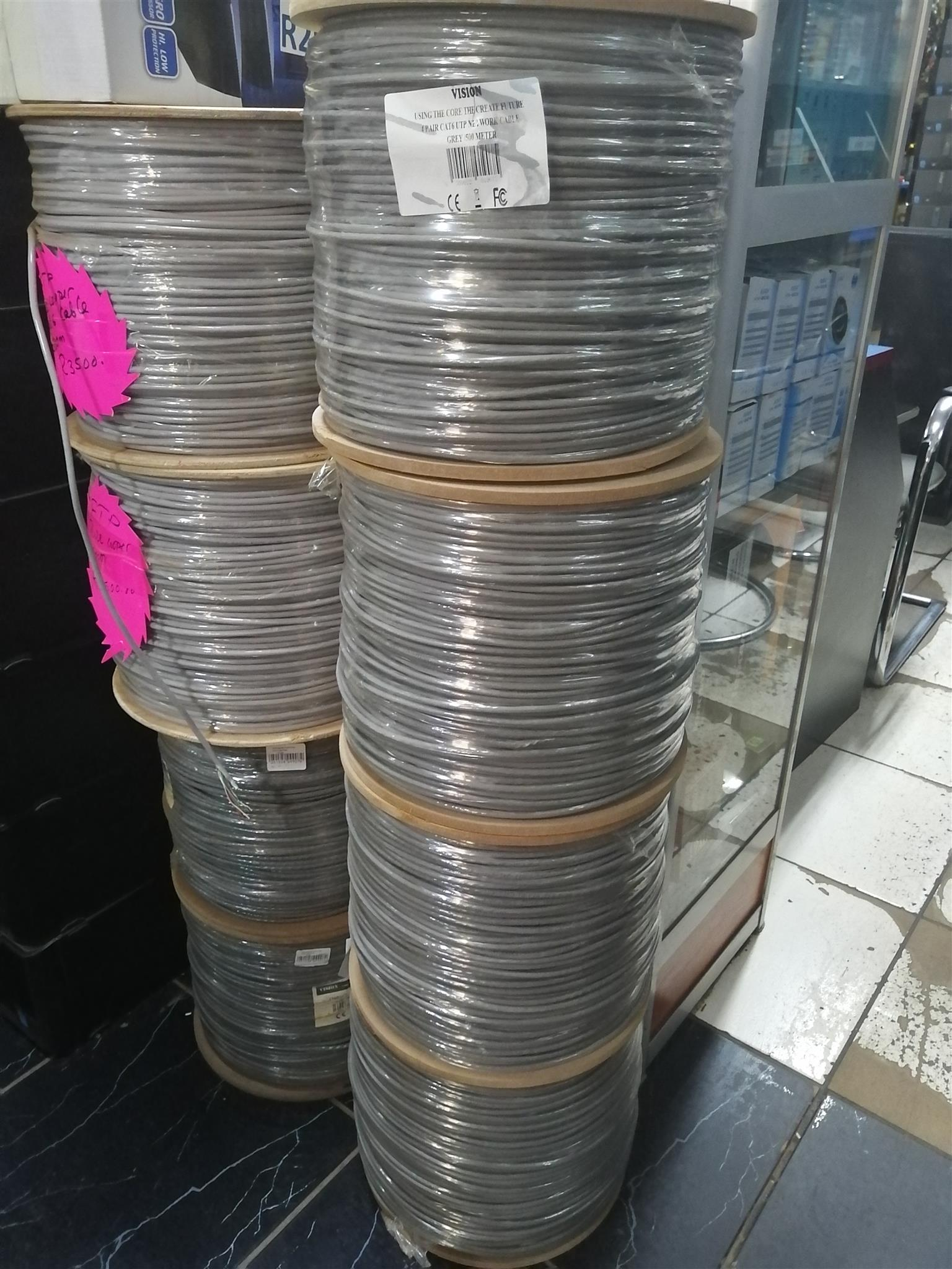 LANCABLE-CAT6E-500M UTP CAT6 Copper Coated Aluminum Core 600m Network