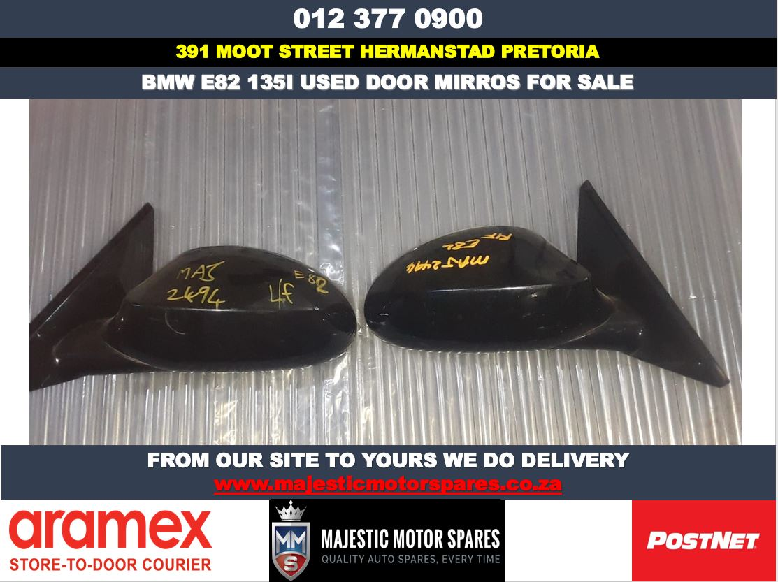 Bmw E82 135i used door mirrors for sale