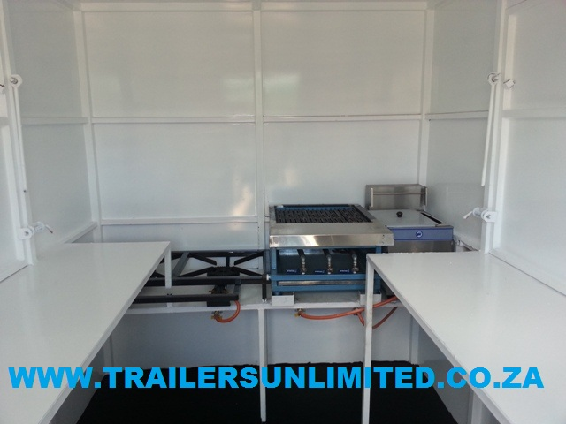 TRAILERS UNLIMITED. 3400 X 1800 X 2000 ECONOMIC CATERING TRAILERS. R33 913-00. EXCL.