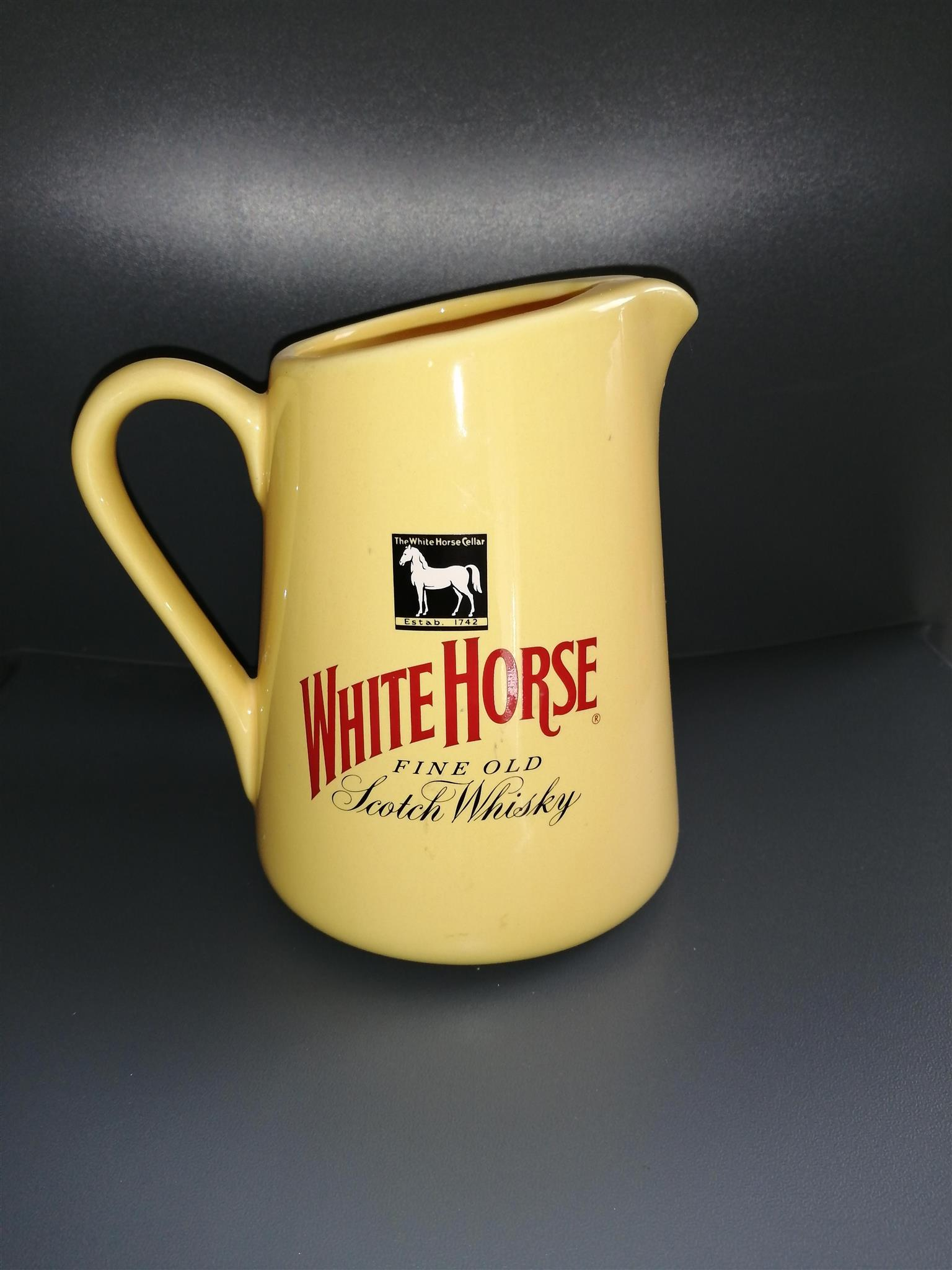 Vintage White Horse Water Pitcher