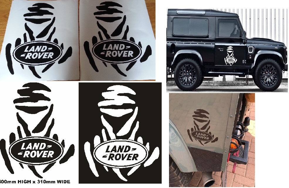 Land Rover  / Land Rover Defender bonnet front name decals sticker graphics