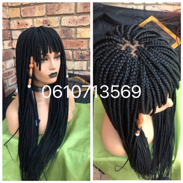 beautiful lace top fringe braided wig