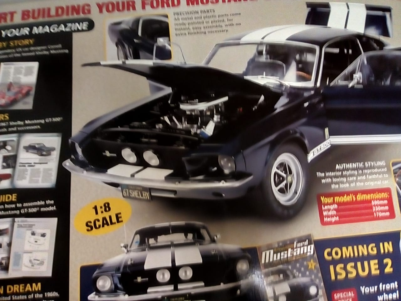 Build Your Own Mustang >> Build Your Own Ford Mustang 1967 Shelby Gt 500 1 8 Scale Junk