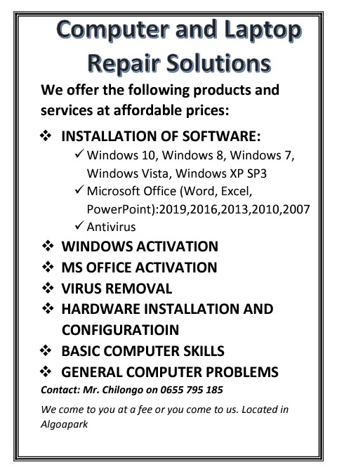 Computer and Laptop Solutions