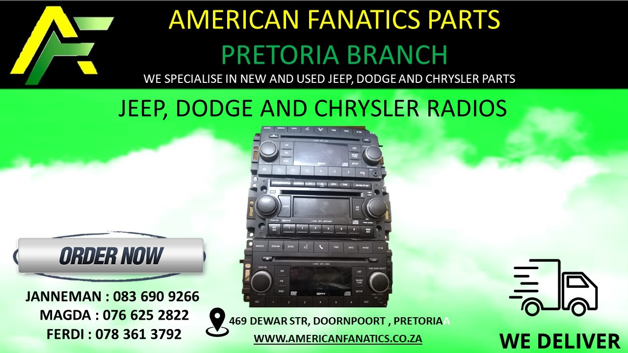 Radios for Jeep, Dodge and Chrysler