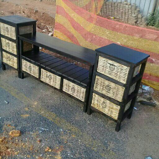 headboard chest of drawers and side tables and more dill with all wood work