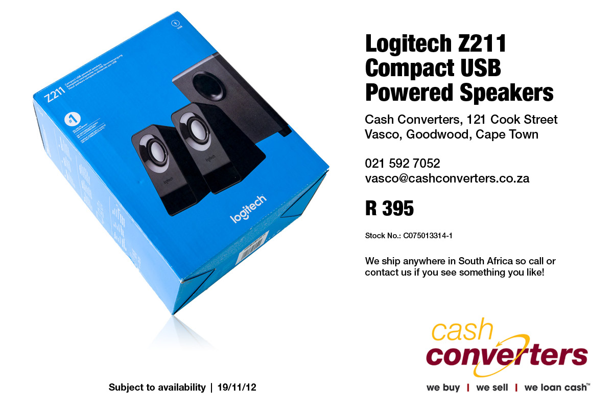 Logitech Z211 Compact USB Powered Speakers