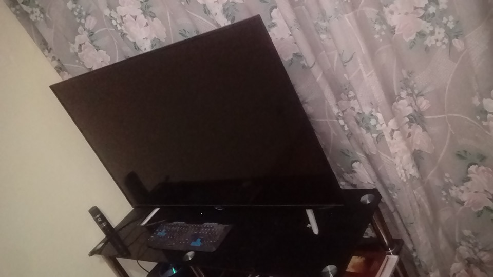 "55"" TV With Glass Stand"