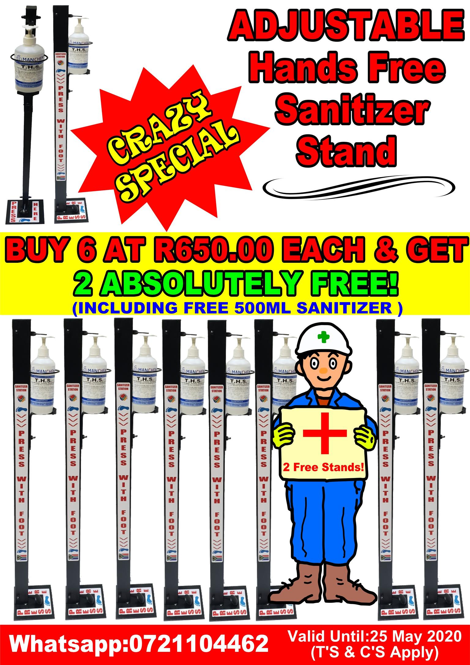 HANDS FREE SANITIZER STAND SPECIAL