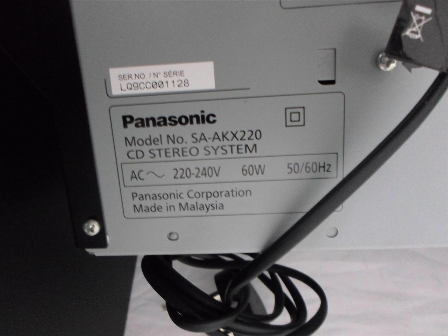 CD Stereo System Panasonic SA-AKX220