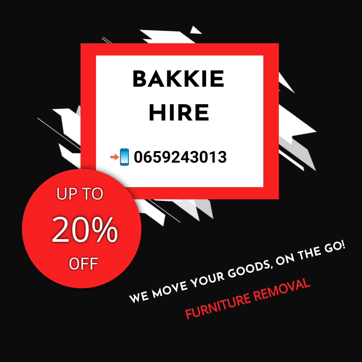 Furniture Removal Bakkie Hire