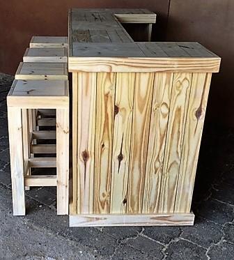 Bar Counter Farmhouse series 2000 and stool Combo Raw.