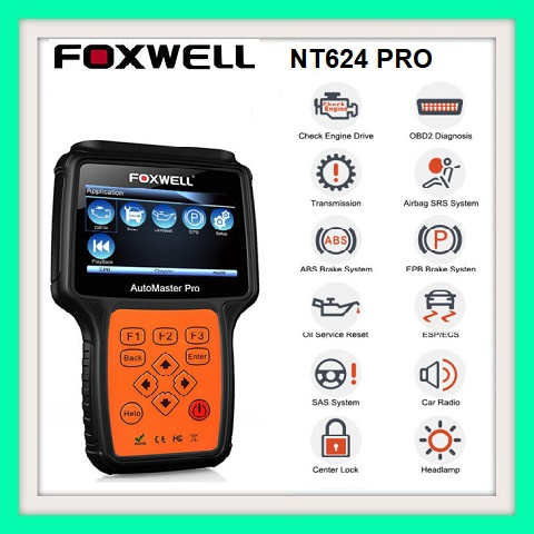 Auto Sanning tool Foxwell NT624 AutoMaster Pro All Makes All Systems OBD2 EOBD Scann