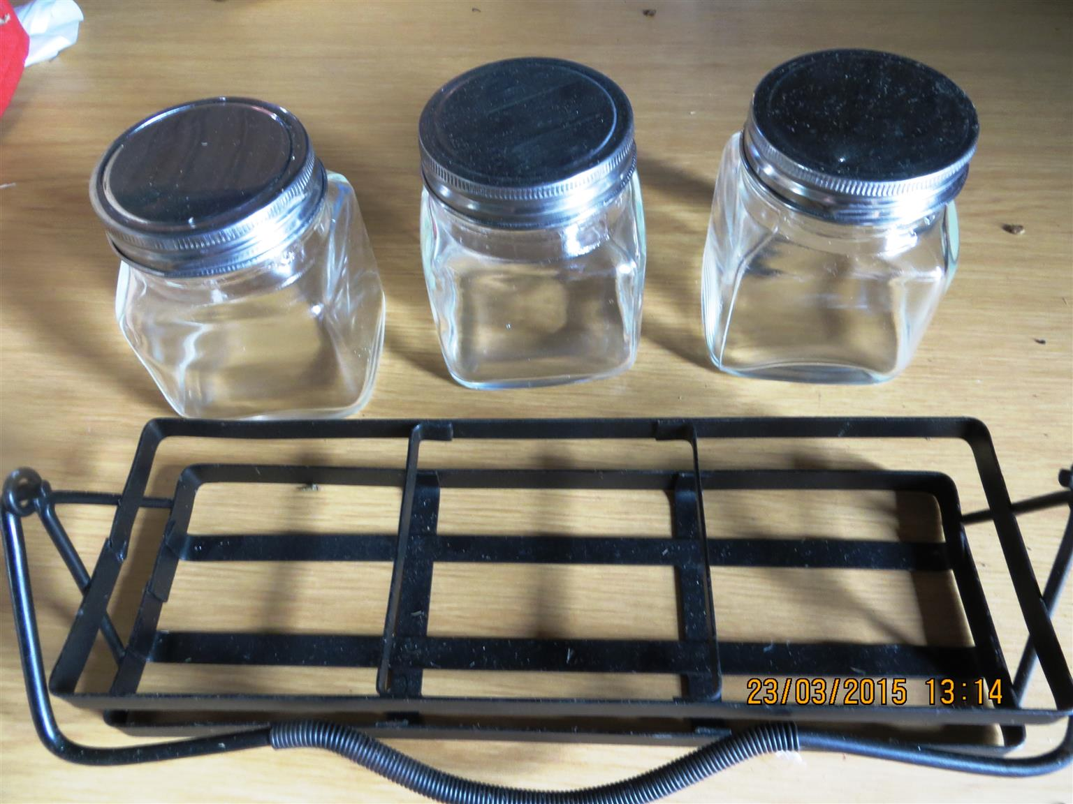 Salt & Spice Jars & Holder