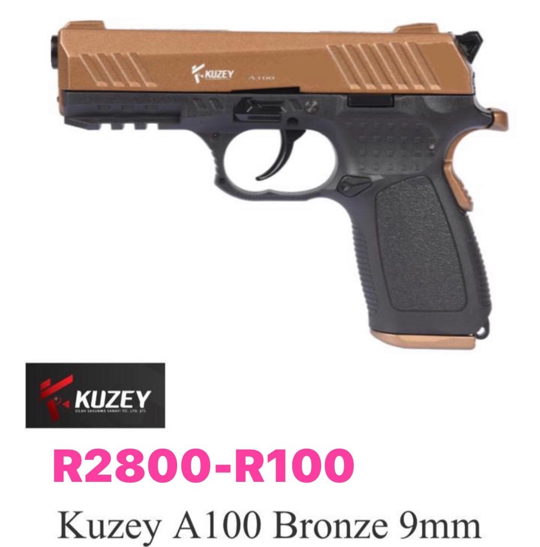 Blank 9 mm self defense pistols