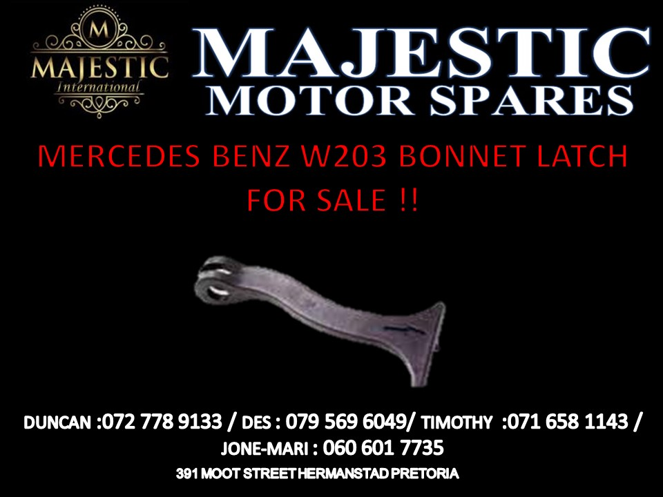 MERCEDES BENZ W203 BONNET LATCH