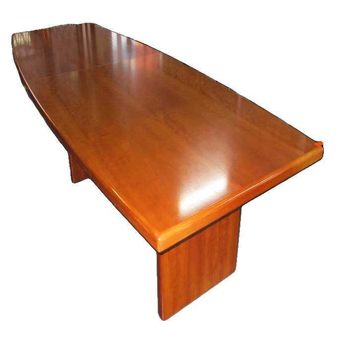 Boardroom table 12-14 seat cherry veneer