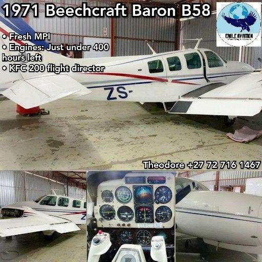 PRICE REDUCED1971 BEECHCRAFT BARON B58