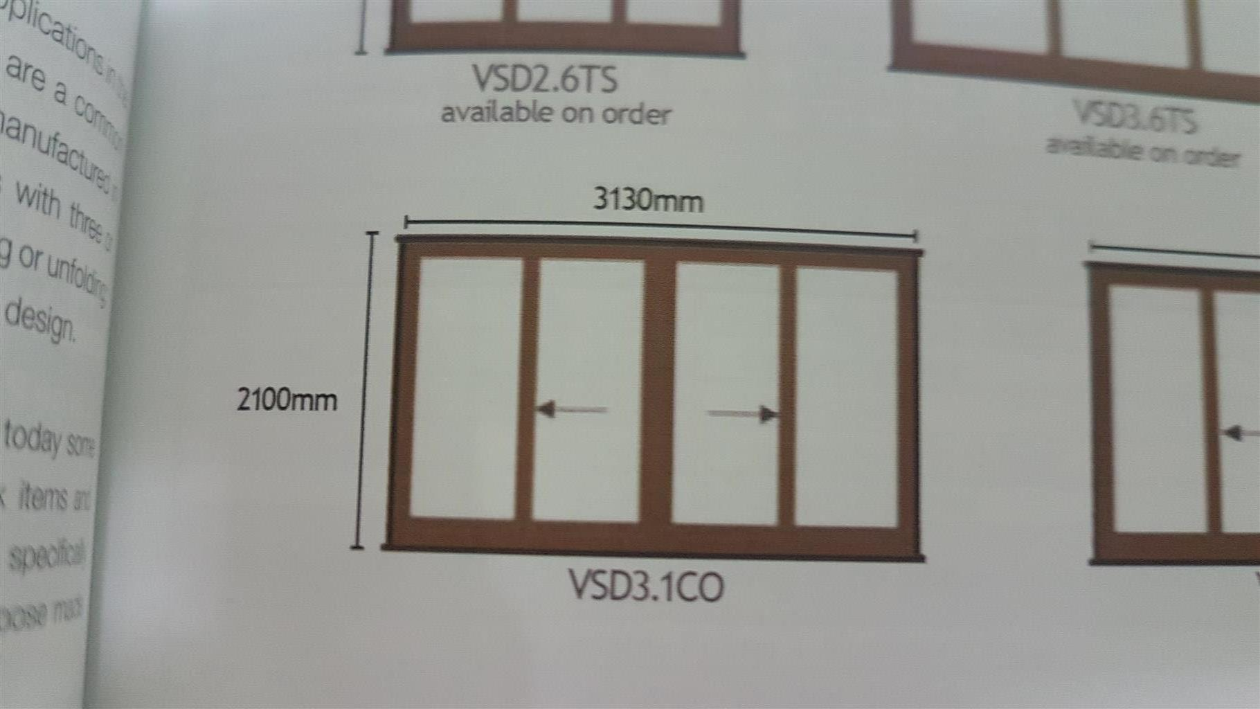 Solid meranti sliding door
