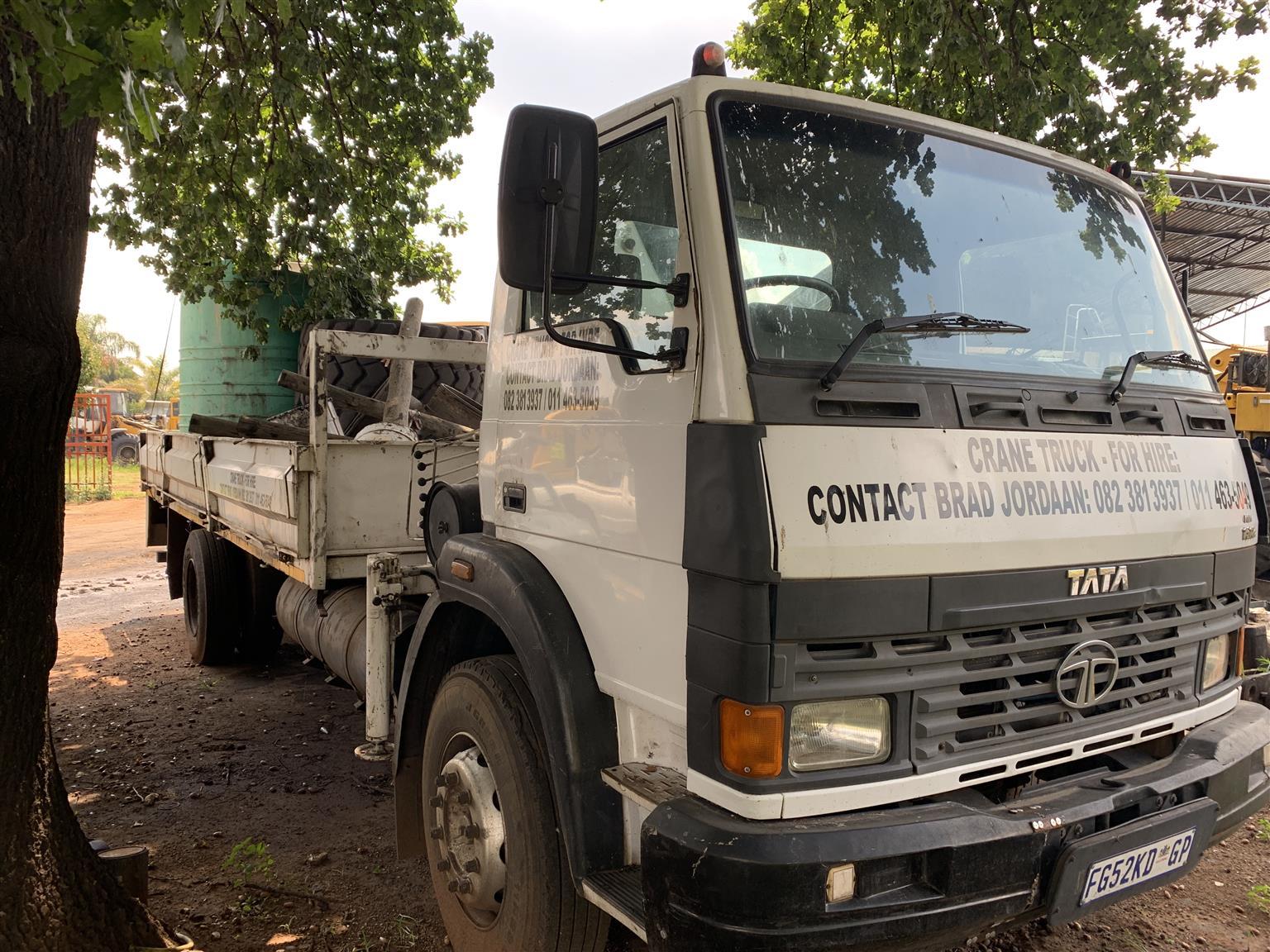 Tata 1518c crane truck