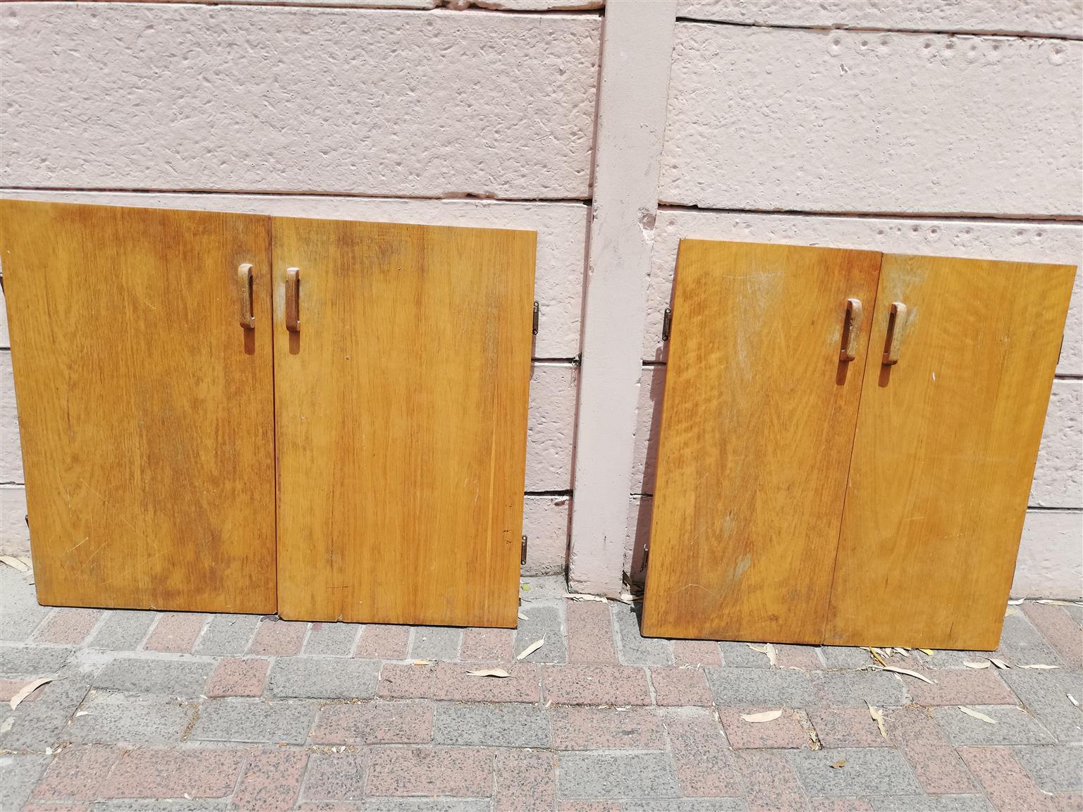 Oak finish doors