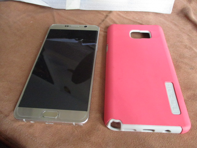 SAMSUNG  SMART PHONE     NOTE   5     WITH  SPARE   COVERS