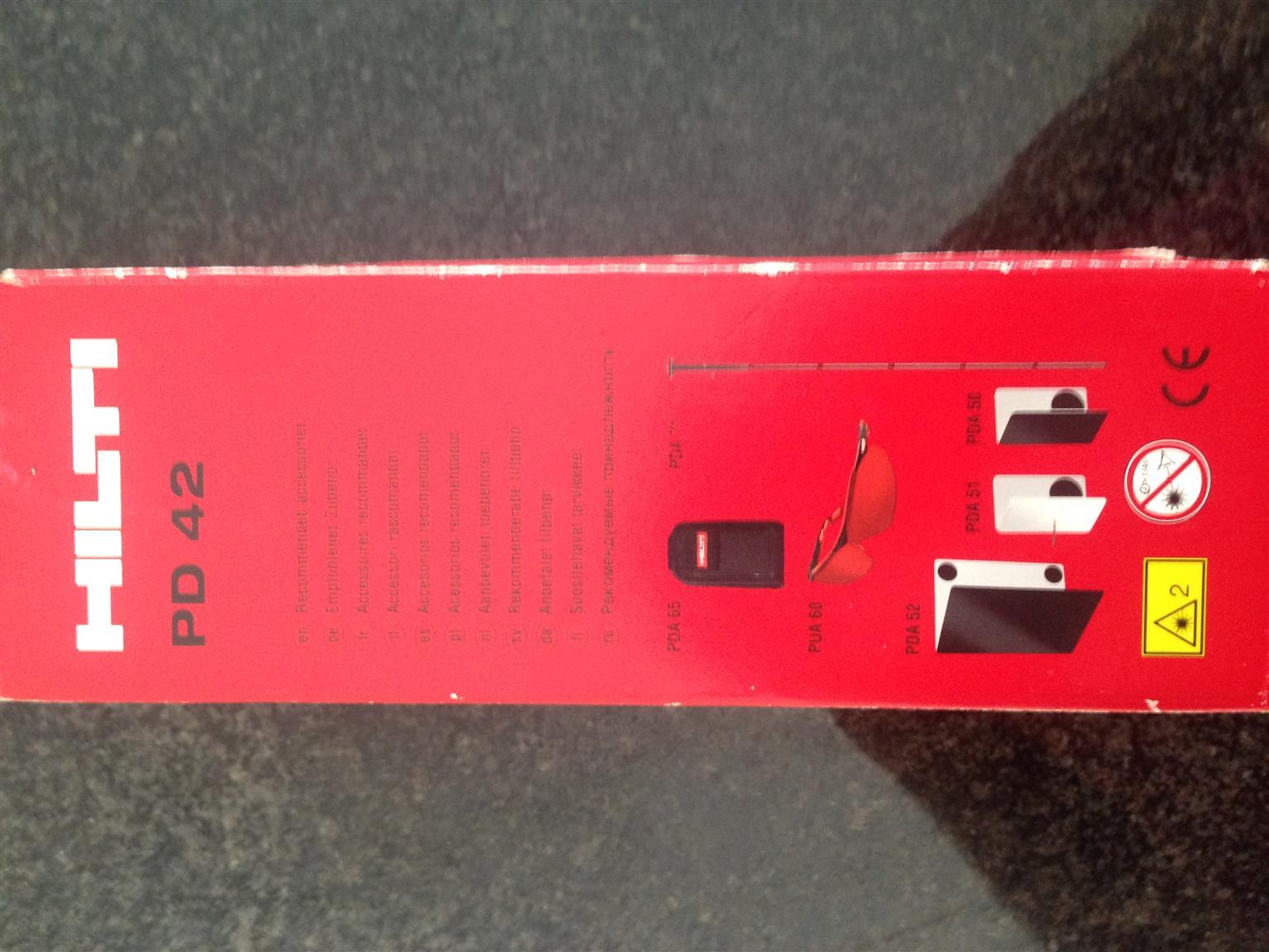 Laser Entfernungsmesser Hilti Pd 42 : Hilti pd laser range meter junk mail