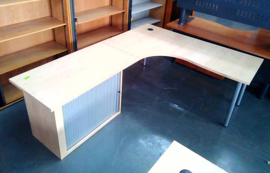 L shape desk plus credenza