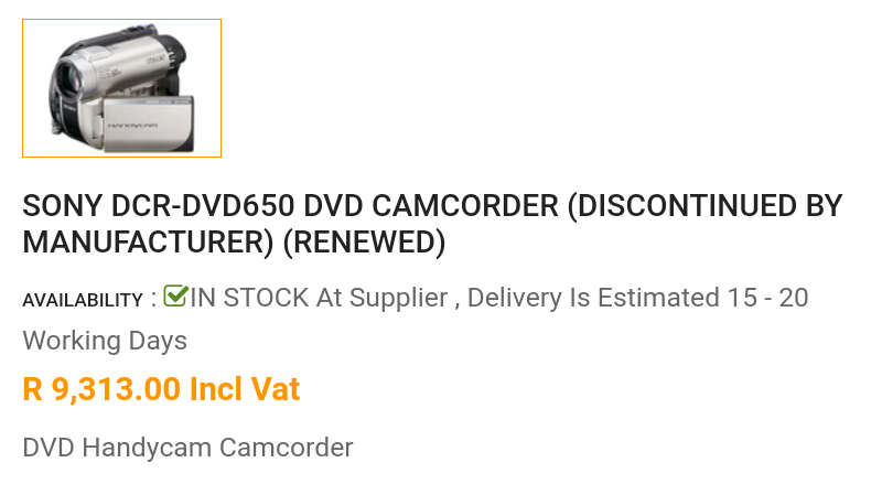 Sony Handycam Camrecorder Dcr-dvd608e was a gift (as new)!
