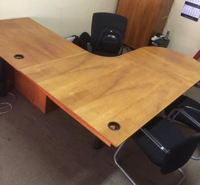 Office Desk – 3 Piece L-Shape