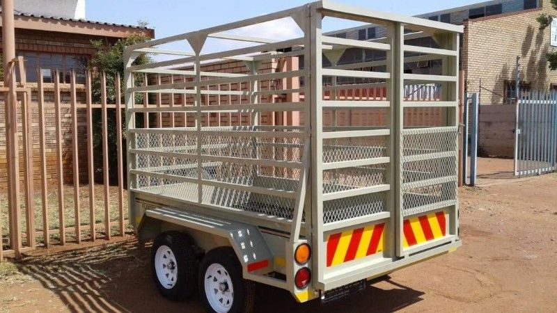 2.450m double axle Cattle trailers for sale