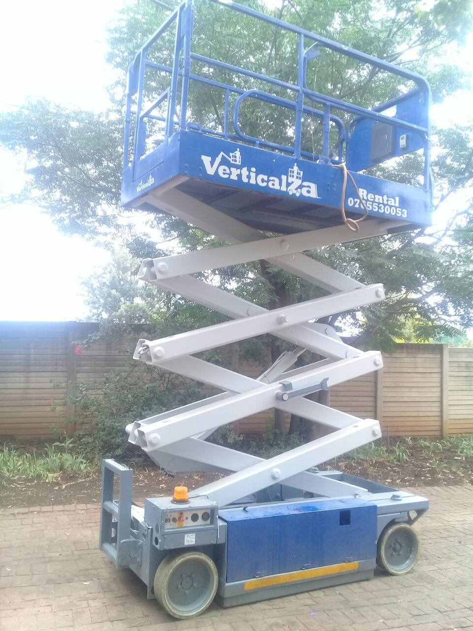 VerticalZA MEC 2647ES - 10m Electrical Scissor Lift cherry picker Manlift |  Junk Mail