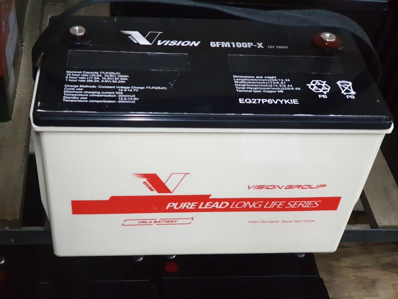 Vision Deep Cycle (100Ah) Battery For Sale