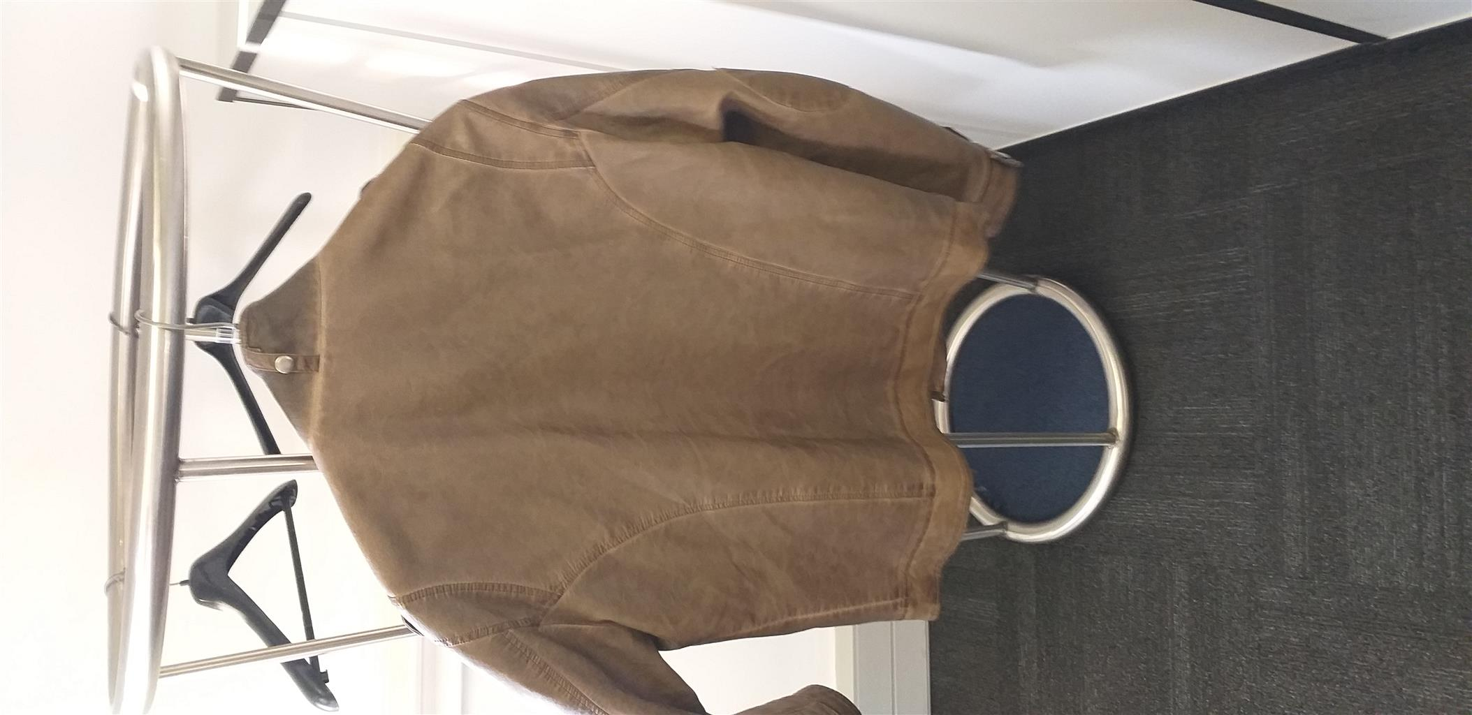 Leather Jacker Brown Xtra Large