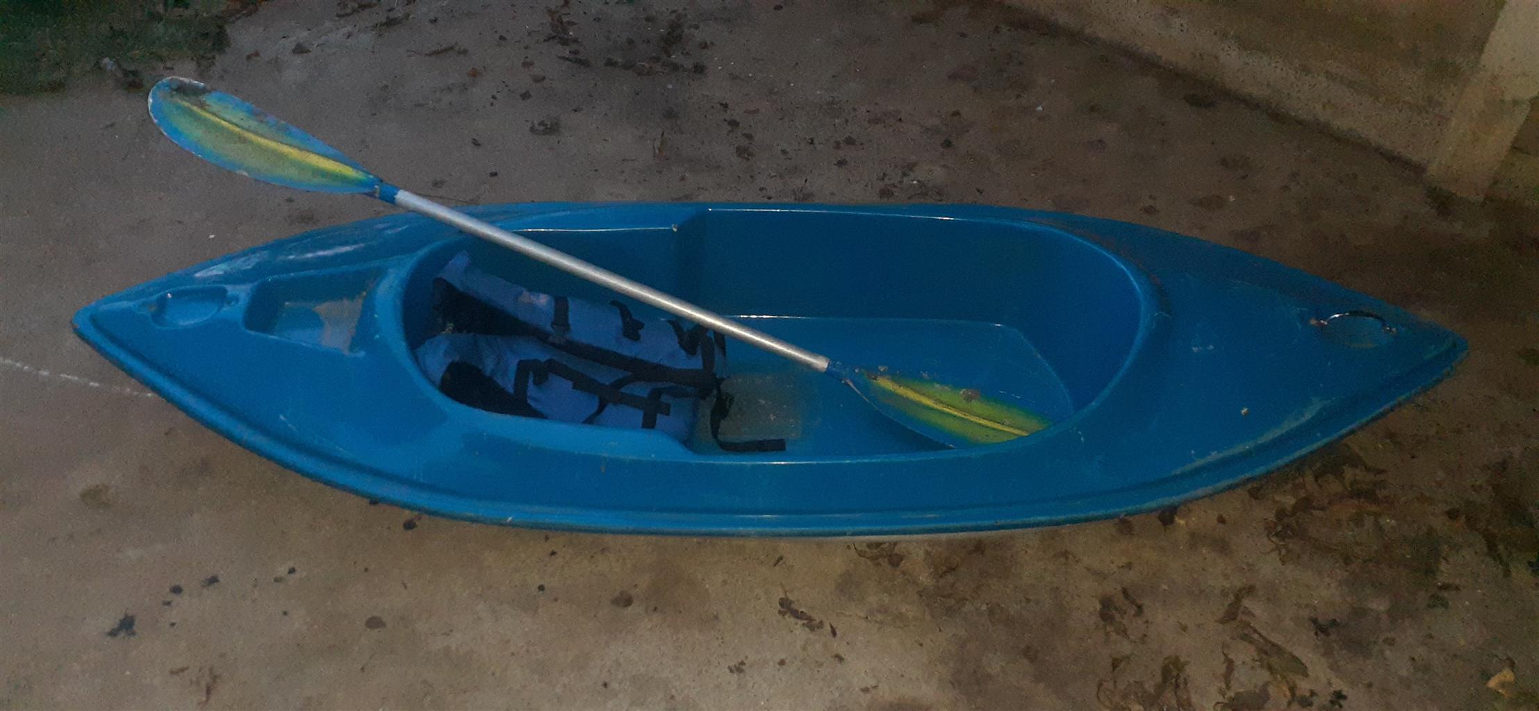 Kanoe met spaane