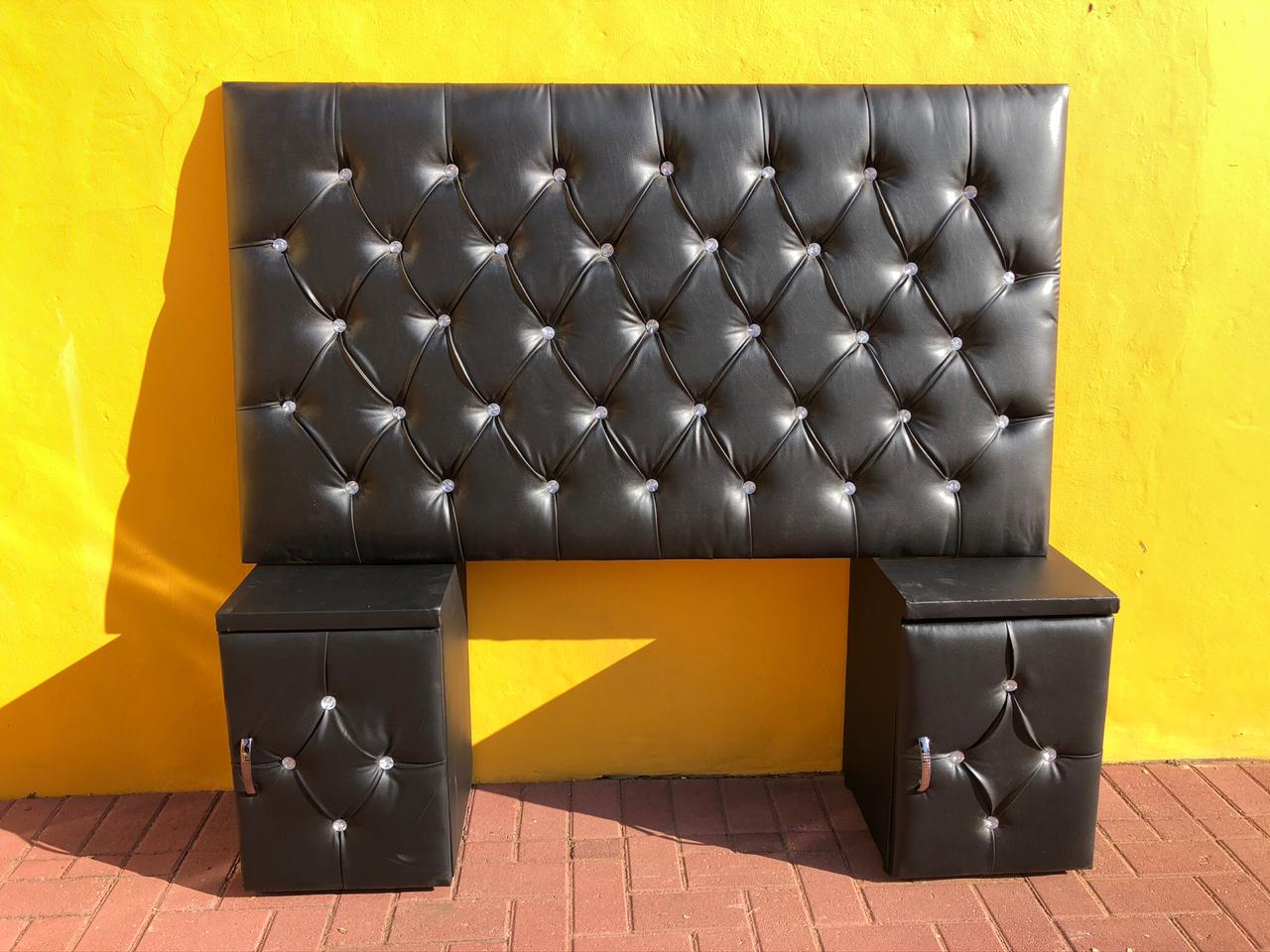 Queen Size Headboard and 2 Pedestals for Sale!