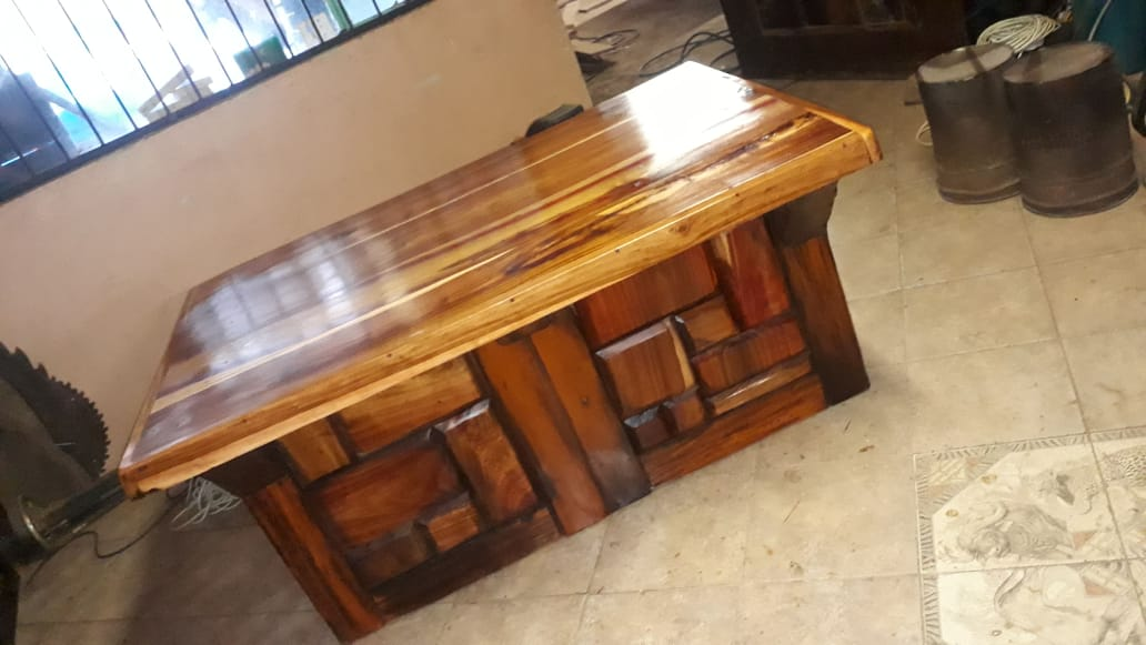 Sleeper wood desk
