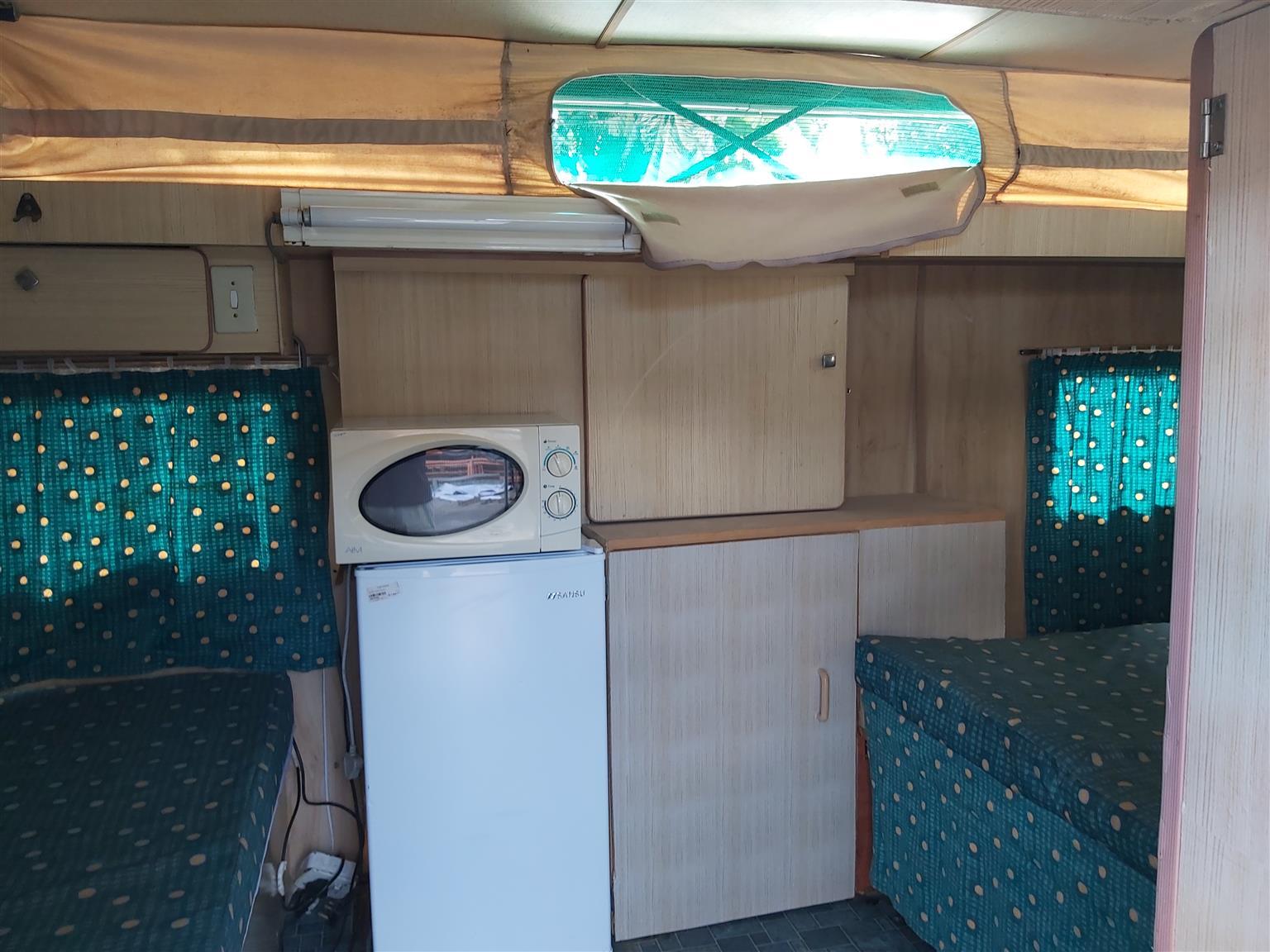 Sprite Sport caravan with island bed