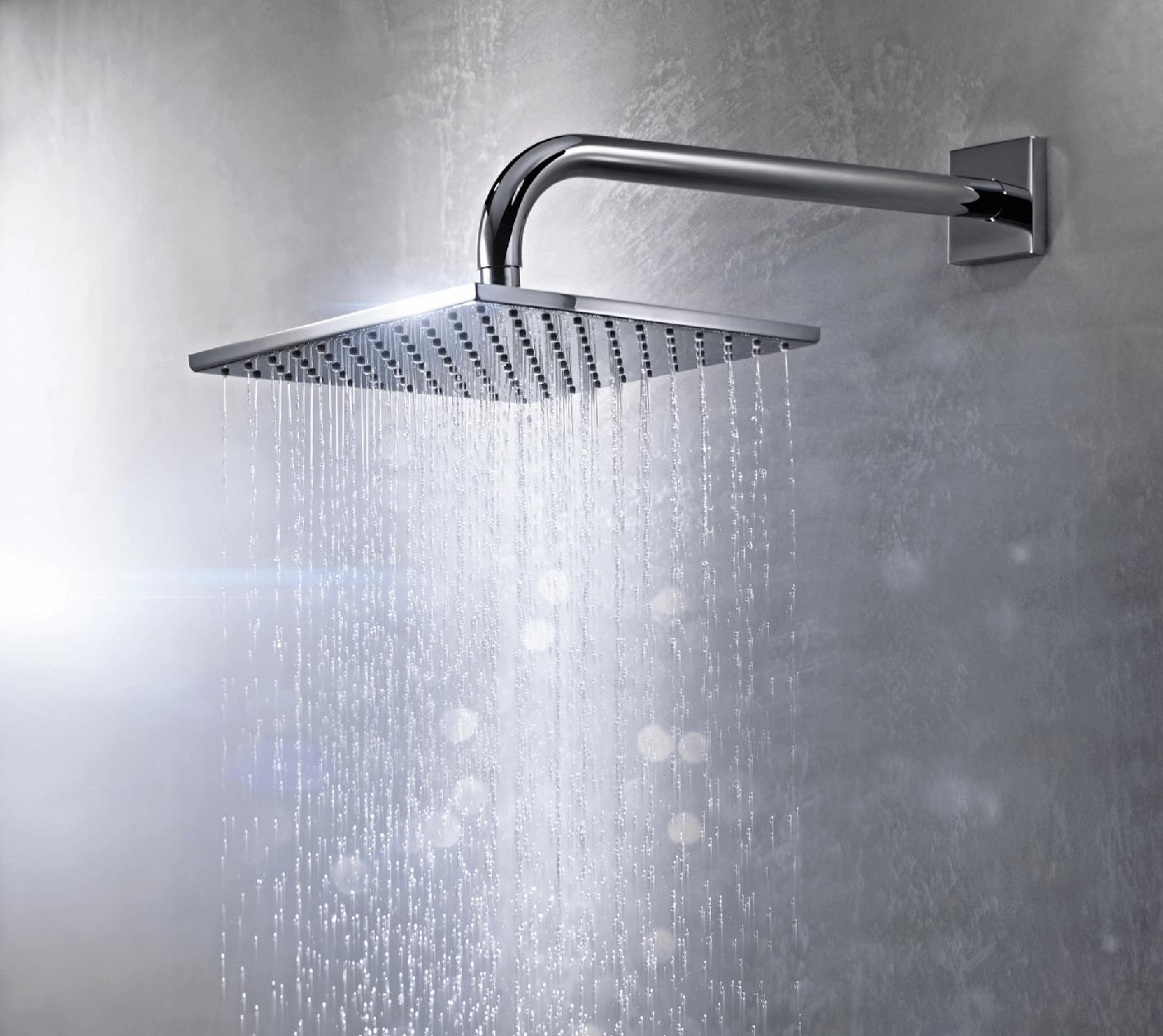 Cobra Square Rain Shower Head 200 x 145mm Chrome-Plated - Cobra