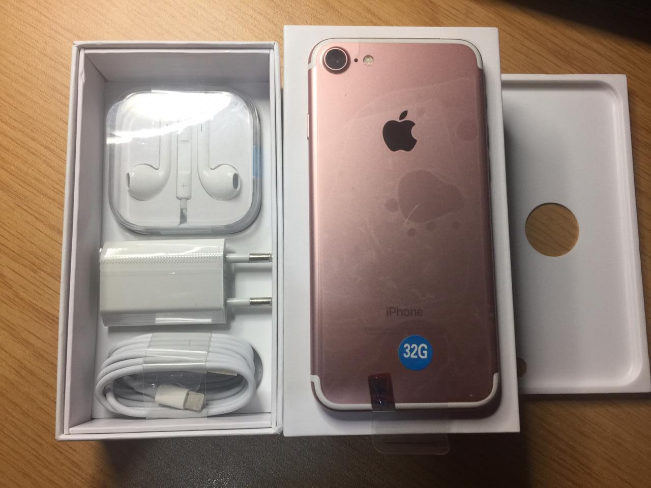 iphone 7 32gb rose gold in box